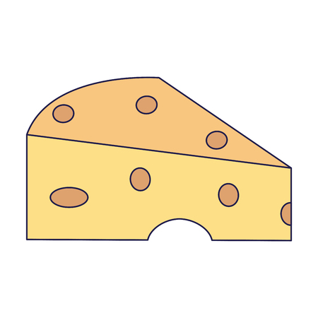 Cheese french food vector illustration graphic design