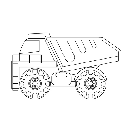 Construction big truck isolated vector illustration graphic design