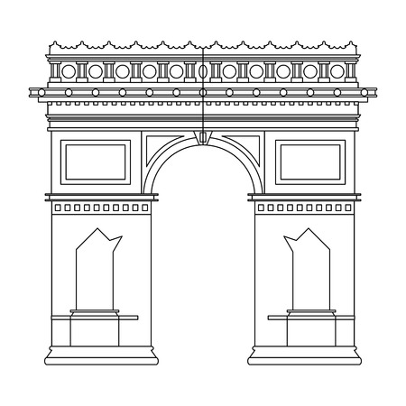 Arch of triumph monument building vector illustration graphic design