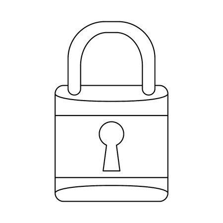 Padlock security device isolated vector illustration graphic design