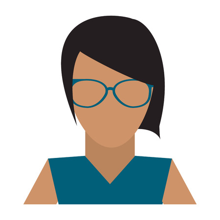 Young woman avatar vector illustration graphic design vector illustration graphic design