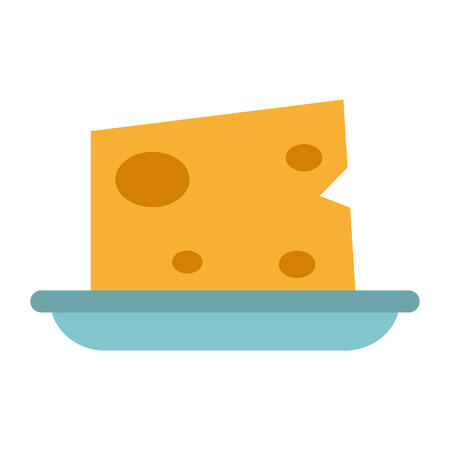 Cheese on dish food vector illustration graphic design Иллюстрация