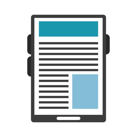 Tablet navigating internet technology vector illustration graphic design