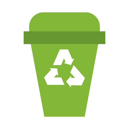Recycle trash can isolated vector illustration graphic design Illustration