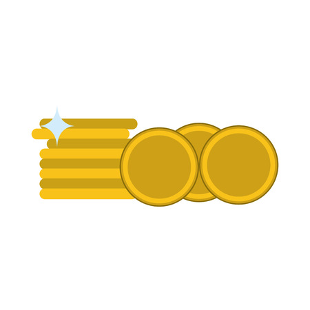 Money coins stacked isolated vector illustration graphic design Illustration