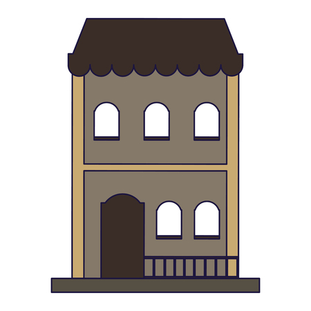 Residence building real estate isolated vector illustration graphic design Vectores