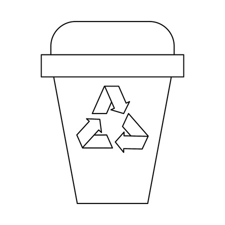 Recycle trash can isolated vector illustration graphic design Ilustração