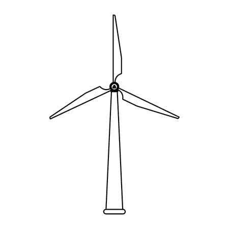 Wind turbine eolic energy vector illustration graphic design
