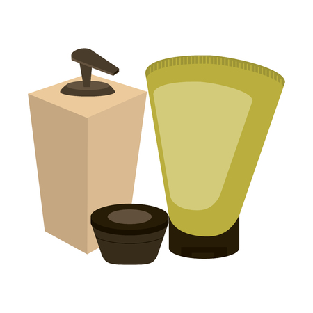 spa oil and cream bottles vector illustration graphic design