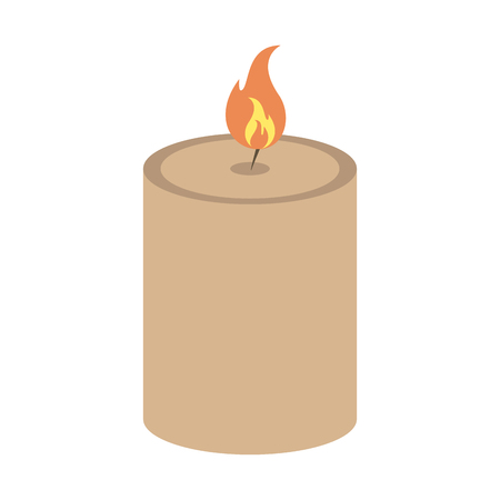 spa candle aromatherapy isolated vector illustration graphic design