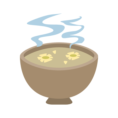 spa oil bowl with flowers aromatherapy vector illustration graphic design