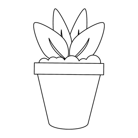 Plant pot garden symbol vector illustration graphic design  イラスト・ベクター素材