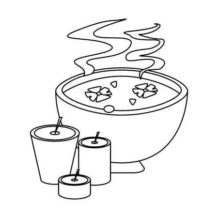 spa aromatherapy oil and candles vector illustration graphic design Illustration