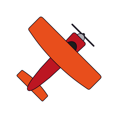 Small airplane topview isolated vector illustration graphic design