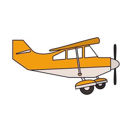 Small airplane sideview vector illustration graphic design