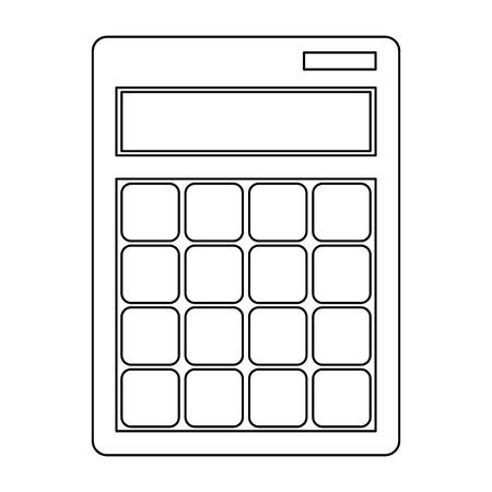 Calculator math device symbol vector illustration graphic design