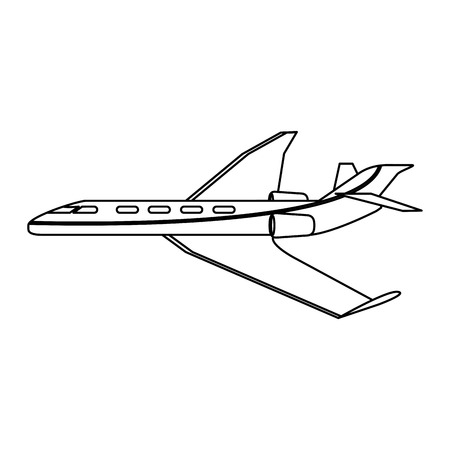 Jet private airplane isolated vector illustration graphic design