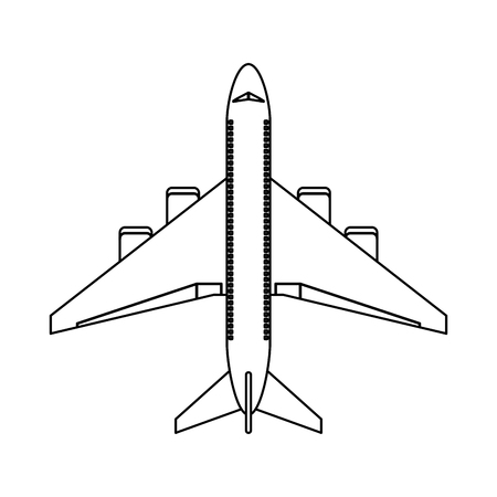 Jet airline airplane topview vector illustration graphic design Иллюстрация