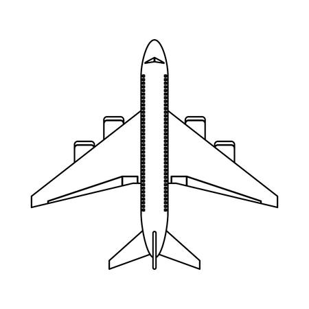 Jet airline airplane topview vector illustration graphic design Illustration