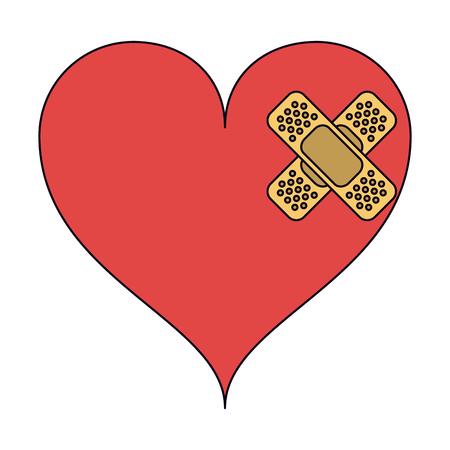 Medical heart vector illustration graphic design