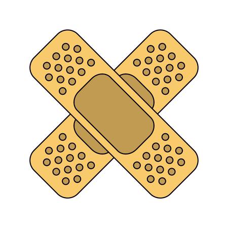 Medica band aids crossed vector illustration graphic design