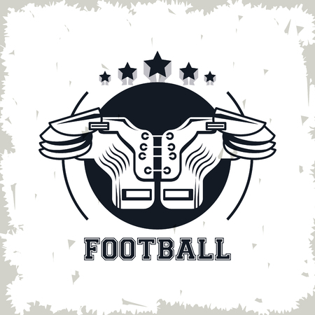 football chest protector drawing icon vector illustration graphic design Vettoriali