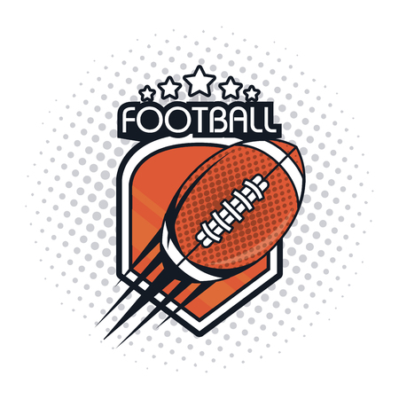 football balloon icon colorful with stars vector illustration graphic design