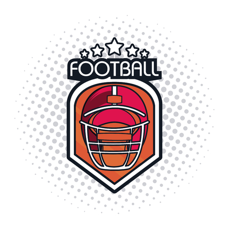 football helmet icon colorful with stars vector illustration graphic design Illustration