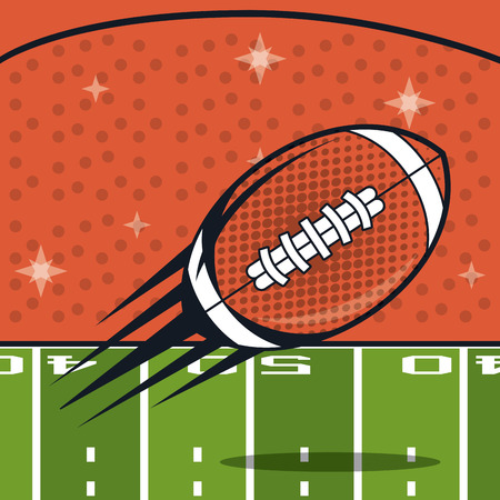 football balloon icon with gridiron in stadium vector illustration graphic design