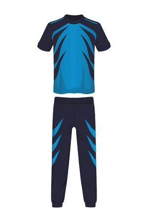 Male fitness sport clothes tshirt and pants vector illustration graphic design