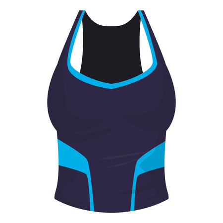 Women fitness blouse sport clothes vector illustration graphic design Vettoriali