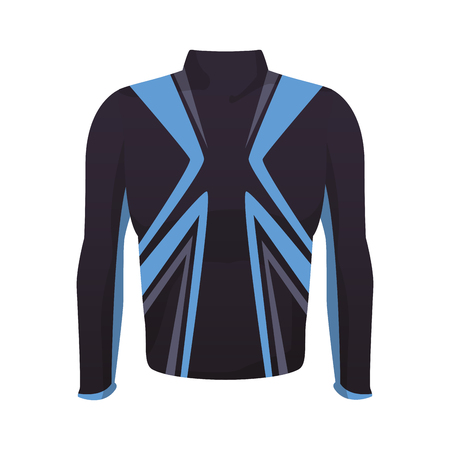 Male fitness sport jacket clothes vector illustration graphic design