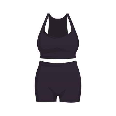 Fitness clothes for women top and short vector illustration graphic design