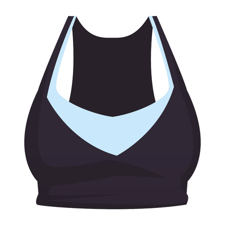 Fitness women top clothes vector illustration graphic design