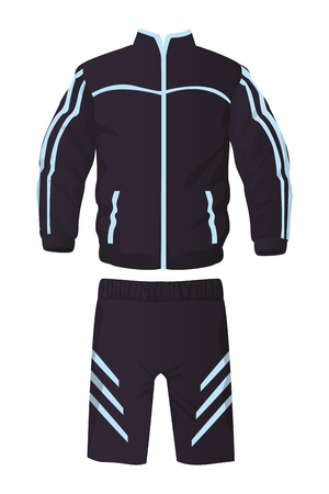 Male fitness sport clothes jacket and pants vector illustration graphic design Illustration