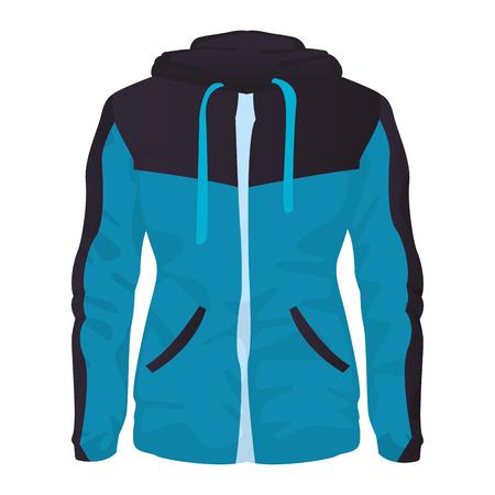 Women fitness jacket sport clothes vector illustration graphic design