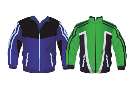 Sport fitness jackets collection vector illustration graphic design