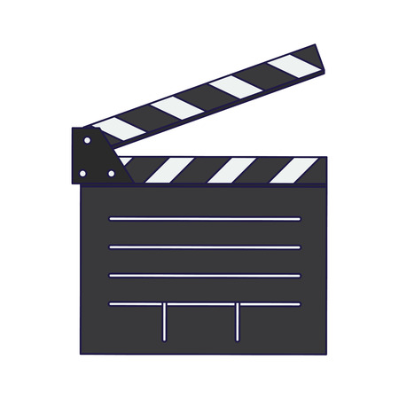Cinema clapboard symbol isolated vector illustration graphic design