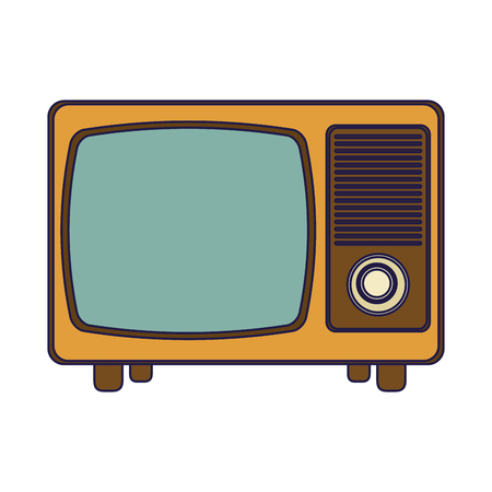 Old vintage television isolated vector illustration graphic design Ilustrace