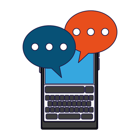 Smartphone chat bubbles symbol vector illustration graphic design
