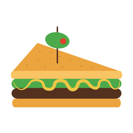 Delicious sandwich with olive food vector illustration graphic design Illustration