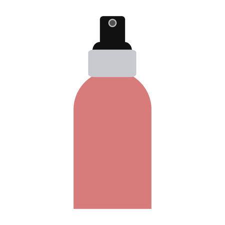 Makeup spray splash bottle vector illustration graphic design