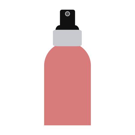 Makeup spray splash bottle vector illustration graphic design