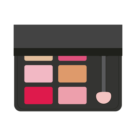 Makeup powder palettes with stick vector illustration graphic design