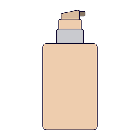 Makeup cream bottle dispenser vector illustration graphic design