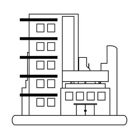 City buildings urban scenery vector illustration graphic design Vectores