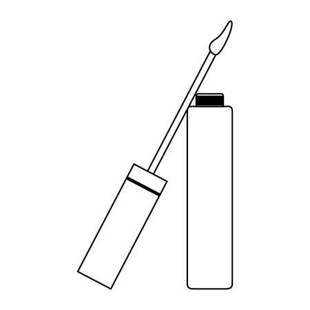 Makeup liquid lipstick open product vector illustration graphic design