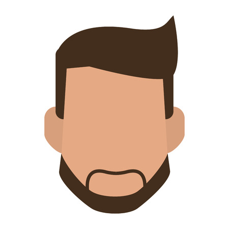 Man with beard faceless head vector illustration graphic design