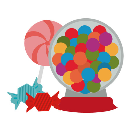 Set of sweet candies vector illustration graphic design