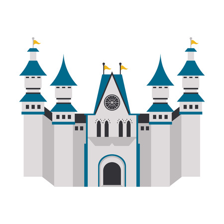 Medieval castle building isolated vector illustration graphic design